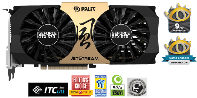 Видеокарта Palit GeForce GTX670 JetStream